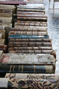 Antiquarian books with classic bindings