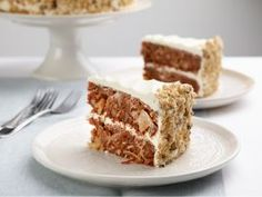 David's Favorite Carrot Cake with Pineapple Cream Cheese Frosting Recipe : Nancy Fuller : Food Network - CAN use applesauce instead of oil - also can add vanilla, more carrots for moisture and less cinnamon. If doing a layer cake, double icing. Cupcakes, Cupcake Cakes, Top Recipes, Cake Recipes, Dessert Recipes, Dessert Food, Dessert Ideas, Just Desserts, Delicious Desserts