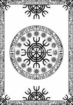 Runic viking pattern