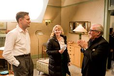 Leonardo diCaprio, Michelle Williams and Martin Scorsese on the set of 'Shutter Island' (2010) http://www.empireonline.com/20/first-look/5.asp