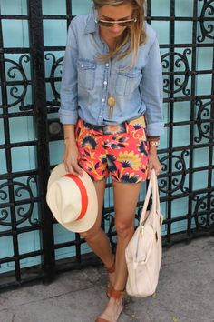 Hibiscus Floral Shorts from J. Crew Via Palm Beach Lately