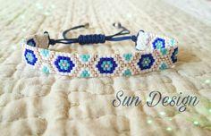 Miyuki çocuk bileklik #miyuki #nazar #beads #peyote #stitch #pattern #makrome #bileklik #bracelet #fashion #child #bebek #baby #moda