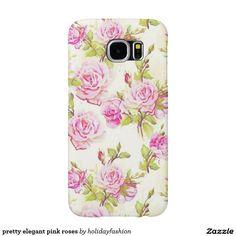 pretty elegant pink roses samsung galaxy s6 cases