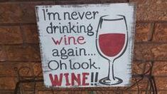 This humorous wine sign is wood. Makes a great gift or housewarming for a Birthday, Christmas or special occasion. A claw tooth hanger is installed. Looks great on a plate holder as well. Measurements: 11 x 12 thickness Thank you for viewing Holiday Signs, Christmas Signs, Kitchen Bar Decor, Family Rules Sign, Shed Signs, Pool Signs, Wine Signs, Gifts For Wine Lovers, Rustic Wood Signs