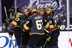 Golden Knights' gold helmets 'here to stay,' Bill Foley says | Las Vegas Review-Journal Hockey Games, Ice Hockey, Cody Glass, Minnesota Wild, Colorado Avalanche, Golden Knights, Headgear, Helmets, Nhl