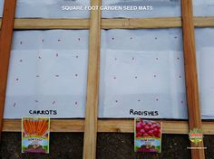 Make seed mats for your square foot garden in the comfort of your heated home and start planning your vegetable garden layout and crop rotation schedule. Spring Vegetable Garden, Vertical Vegetable Gardens, Vegetable Garden Planner, Vegetable Gardening, Vegetable Ideas, Diy Pergola, Pergola Design, Growing Winter Vegetables, Fall Vegetables
