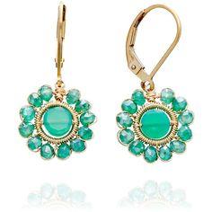 Dana Kellin Green Onyx Earrings - Polyvore