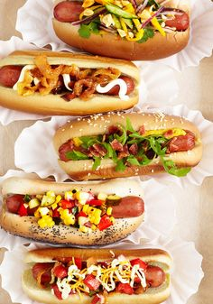 Inventive #hotdog #topping combos you'll crave all summer long...