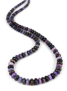 SUGILITE GRADUATED RONDELLE BEADS 3-9.5mm from New World Gems