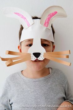 Neposedné nožnice: Karnevalové masky z papierových tanierov Easter Crafts, Arts And Crafts, Children, Masks, Carnival, Projects, Toddlers, Boys, Kids
