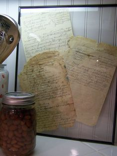 What a sweet idea for preserving handwritten recipes by loved ones.