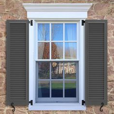 WL2 Fixed Louver Shutter   Exterior Louver Shutters   Timberlane Store