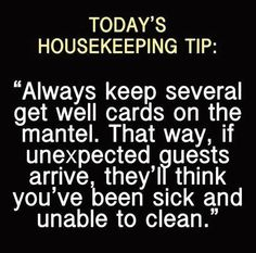 Today's Housekeeping Tip: @Ana Maranges Renfroe