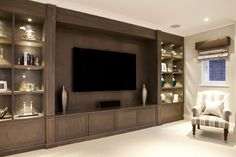 Bespoke entertainment rooms and TV units by The Wood Works are designed for your. - Our TV and Media Units - Bespoke entertainment rooms and TV units by The Wood Works are designed for your ultimate enjoyment - Tv Cabinet Design, Tv Wall Design, House Design, Living Room Wall Units, Living Room Tv Unit Designs, Living Room Decor Styles, Tv Unit Furniture, Living Room Entertainment Center, Muebles Living