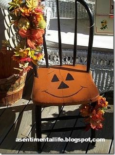 sentimental life - halloween chair