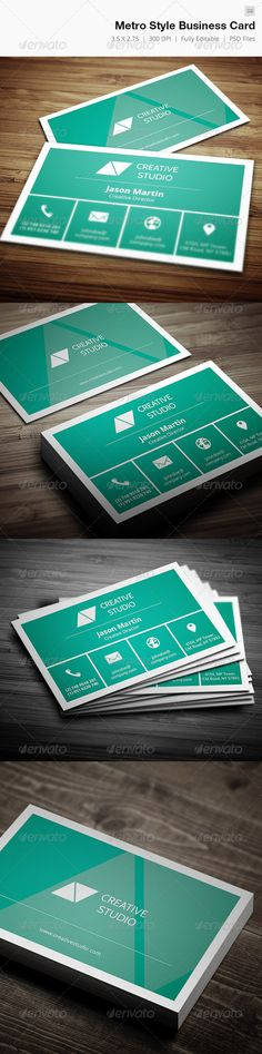 Metro Style Creative Business Card Template PSD. Download here: http://graphicriver.net/item/metro-style-business-card-08/4959148?s_rank=105&ref=yinkira