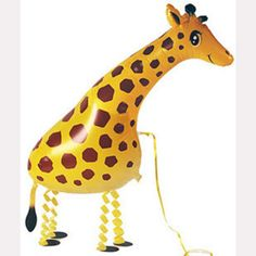 Children love 39*91cm Giraffe Balloon Walking Pet Balloon Animals Shape Foil Balloon for Birthday Party
