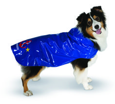 Up Country's Anchor Nantucket rain slicker is a beautiful addition to your dog's wardrobe. Stay warm and dry in high style! Available in eight sizes and two beautiful colors. www.upcountryinc.com
