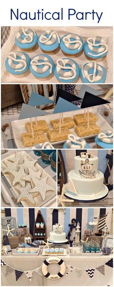 Love everything about this Nautical birthday party!