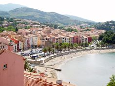 Roussillon - Collioure is a gorgeous place. It's an old French fishing port close to the Spanish border on a craggy stretch of coastline where the Pyrenean mountains tumble into the Mediterranean.