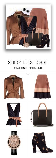 """""""Black and Brown"""" by no-where-girl ❤ liked on Polyvore featuring Pinko, Miss Selfridge, Roksanda, Christian Louboutin and Aquazzura"""