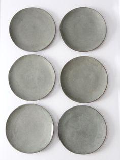 vintage ceramic plates set of 6