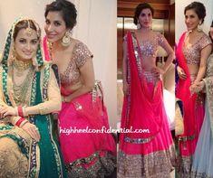 Actor, Singer, Dancer, Producer @Sophie_Choudry OMG in http://www.ManishMalhotra.in/landing/ #Lehenga at Dia Mirza (in html www.RituKumar.com/home/ joda) wedding w/ Sahil Sangha, Oct, 14