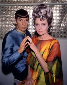 "Publicity photo, 1967. Jane Wyatt as Spock's mother Amanda in the season 2 episode ""Journey To Babel""."
