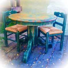 A personal favorite from my Etsy shop https://www.etsy.com/listing/293247023/vintage-kids-table-chair-set-green
