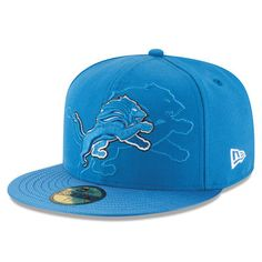 Men's Detroit Lions New Era Blue 2016 Sideline Official 59FIFTY Fitted Hat