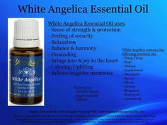 White Angelica is a calming and soothing blend that encourages feelings of protection and security. It combines oils used during ancient times to enhance the body's aura, which brings about a sense of strength and endurance. Many people use it as protection against negative energy. White Angelica works great applied to shoulders. For topical or aromatic use. Diffuse or wear on top of shoulders, along spine, on crown of head, wrists, behind ears and on the back of the neck.