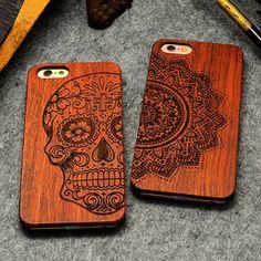 Retro PC + Holz Schädel Fall für iPhone 5 5 S iPhone SE Novetly Vintage Fall-abdeckung für iPhone 5 S 6 6 S Plus 7 7 Plus 5,5 inch