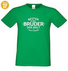 Bruder Geschenkeset Fun-T-shirt zu Weihnachten oder zum Geburtstag mit GRATIS Urkunde - Bester großer Bruder der Welt Farbe: hellgrün Gr: S (*Partner-Link)