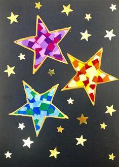 Christmas DIY: beautiful Stars in Camaïeu mosaic style stickers Christmas Ad, Easy Christmas Crafts, Christmas Nail Art, Simple Christmas, Christmas Humor, Xmas, Diy Crafts To Do, Crafts For Kids, Navidad Diy