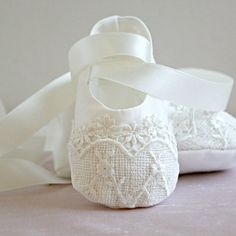 baby ballet slippers by adore baby | notonthehighstreet.com