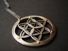 Double Layer Flower of Life Pendant  by JeanBurgersJewellery on Etsy