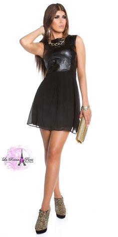 vestidos cortos elegantes de gasa Irving negro