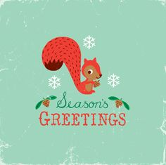 vintage looking and cute character.... Holiday card inspiration