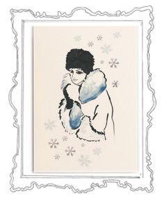 Schneekönigin Was gibt es Schöneres als in der glitzernden Weihnachtszeit liebe Menschen mit herzlichen Zeilen zu überraschen und etwas Weihnachtszauber zu verschicken. Das Weihnachtskarten schreiben ist eine zauberhafte Tradition, die zu Weihnachten – dem Fest der Liebe und Familie – einfach dazugehört.  Die elegante Klappkarte, in einem zarten Cremeweiß, hat das Format 118 x 168 mm ( 200g ) und der Umschlag 125 x 176 mm (120g ).