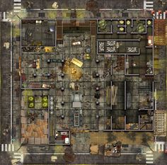 shadowrun rpg map maps warehouse modern cyberpunk fantasy d20 wars star dungeon colony tabletop fi sci roll20 fallout plans paper