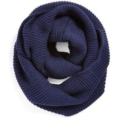 Junior BP. Ribbed Infinity Scarf ($12) ❤ liked on Polyvore featuring accessories, scarves, navy, tube scarves, infinity scarf, circle scarves, round scarf and loop scarf