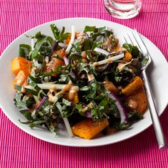 Learn how to make Roasted Squash and Kale Salad. MyRecipes has 70,000+ tested recipes and videos to help you be a better cook