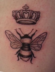 Queen Bee Tattoo Designs | The Bee's Knees Tattoo Of A Queen Bee On Marta's