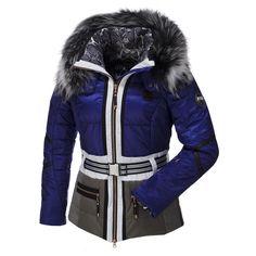 Sportalm Kitzbühel, Sira ski-jas met bontkraag, dames, Blauw