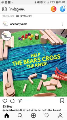 Problem solving/creativity/using materials/teamwork Preschool Science, Preschool Classroom, Classroom Activities, Science Activities, Preschool Activities, Bear Theme Preschool, Problem Solving Activities, Kindergarten Stem, Play Based Learning