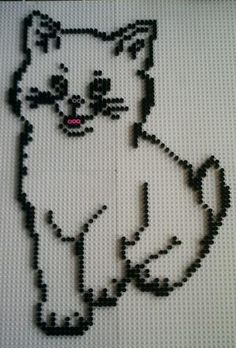 Cat hama perler beads