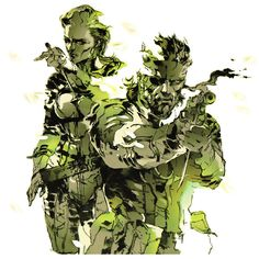 The Boss & Naked Snake - Pictures & Characters Art - Metal Gear Solid 3: Snake Eater