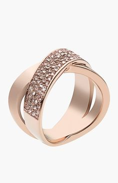 Gorgeous rose gold pave ring. Great for stacking or a single statement ring.