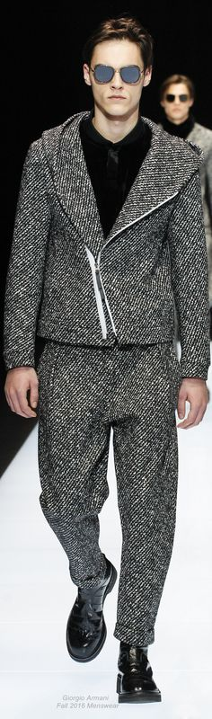 Winter vibes from Giorgio Armani Fall 2016 Menswear