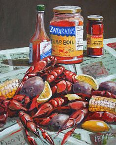 New Orleans Painting - Crawfish Season by CB Hume